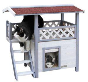 Kerbl Lodge Ontario - Haus für Katzen aus Holz
