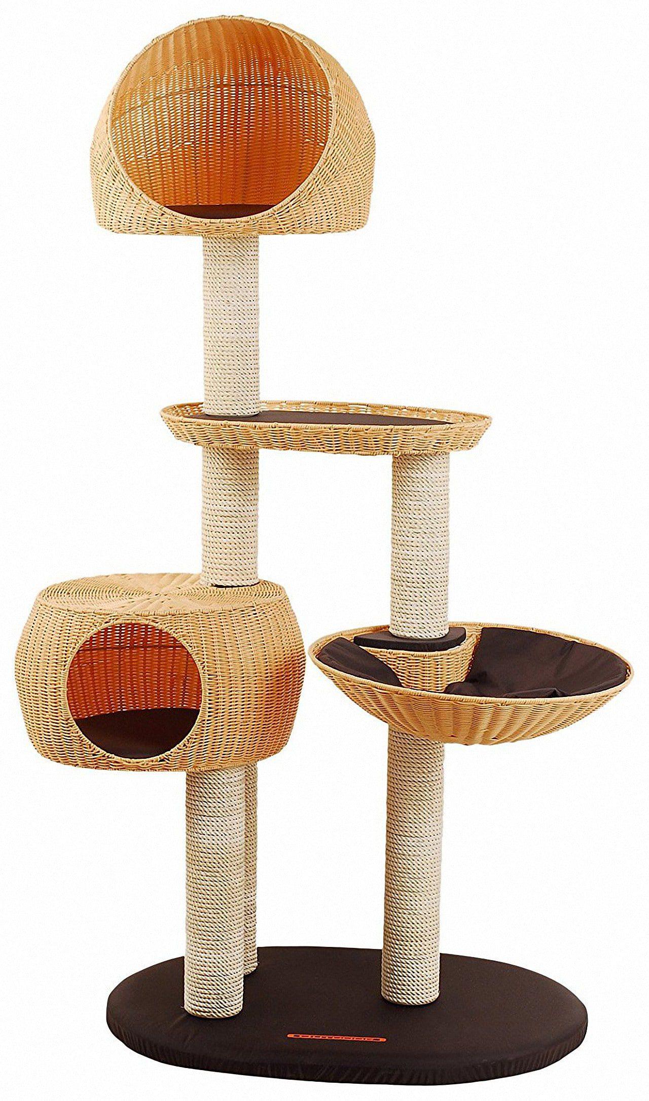outdoor kratzbaum katzenh user f r garten terassen balkon. Black Bedroom Furniture Sets. Home Design Ideas