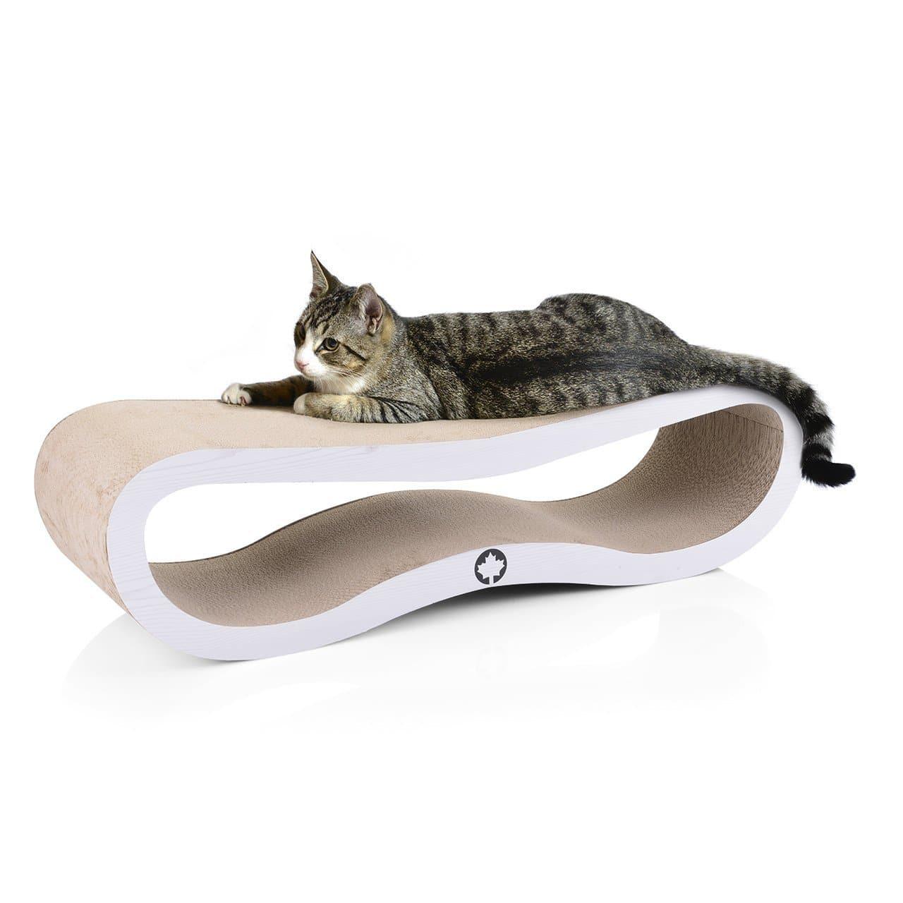 kratzm bel aus wellpappe f r katzen katzenlounge aus pappe. Black Bedroom Furniture Sets. Home Design Ideas